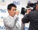 錦織圭選手のカメラサイン=『P&Gリオデジャネイロ五輪 ママの公式スポンサー』発表会 (C)ORICON NewS inc.