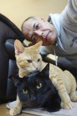 田中要次がただ猫を愛でるだけの猫萌えドラマ『猫とコワモテ』来年1月2日、BSジャパンで放送(C)BSジャパン
