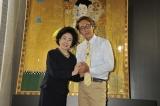 映画『黄金のアデーレ 名画の帰還』イベントに出席した(左から)中村玉緒、ヒロシ