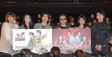 感謝イベントに出席した(左から)西内まりや、三吉彩花、上川隆也、北条司氏、相武紗季、和泉崇司 (C)ORICON NewS inc.