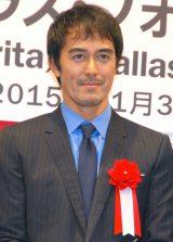 『JAL 成田‐ダラス・フォートワース線 就航記念イベント』に出席した阿部寛 (C)ORICON NewS inc.