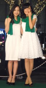 『表参道イルミネーション2015』点灯式に出席した(左から)板野友美、小島瑠璃子 (C)ORICON NewS inc.