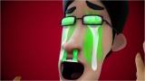 """TOKYO MX開局20周年記念アニメ 『SUSHI POLICE』スペシャルムービー『お寿司の作法』全国の109シネマズで上映開始。ワサビを顔に塗り涙を流すスズキ(C)""""SUSHI POLICE"""" Project Partners"""