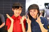 クルー・ユニフォームに着替えたメンバーたちが接客=マクドナルド新潟万代店『マクドナルド×NGT48コラボレーションキャンペーン「チキンマックナゲット 48ピース」』に登場したNGT48