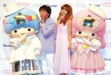 エライザポーズをする(左から)キキ、小沢一敬、池田エライザ、ララ (C)ORICON NewS inc.