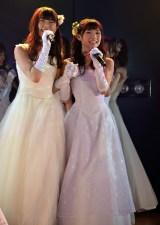(左から)渋谷凪咲、岡田奈々=高橋朱里チーム4『夢を死なせるわけにいかない』公演初日 (C)ORICON NewS inc.