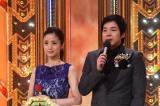 5年ぶりの開催された『M-1グランプリ2015』司会を務めた(左から)女優の上戸彩とタレントの今田耕司(C)ABC