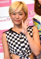 『KawaiianTV SUPER LIVE 2015』の囲み会見に出席したベイビーレイズJAPANの林愛夏 (C)ORICON NewS inc.