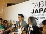 12月9日にタイ・バンコクで開催された制作発表記者会見でインタビューに答えるジェームス・ジラユ