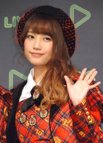 LINE『新たな動画配信プラットフォーム事業発表会』に出席したAKB48・加藤玲奈 (C)ORICON NewS inc.