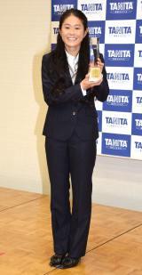 『第12回タニタ健康大賞』の授賞式に出席した澤穂希 (C)ORICON NewS inc.