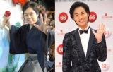 『第66回NHK紅白歌合戦』に初出場する三山ひろし(左)と山内惠介(右)