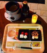 期間限定イベント「GRAND KIRIN WINTER BEER GARDEN」:『グランドキリン』とチョコレートフォンデュのセットメニュー(税抜200円) (C)oricon ME inc.