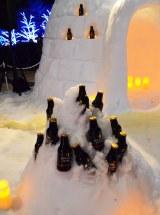 期間限定イベント「GRAND KIRIN WINTER BEER GARDEN」:雪で冷やした『グランドキリン』がその場で飲める (C)oricon ME inc.