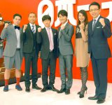 (左から)タカアンドトシ、ウッチャンナンチャン、江角マキコ、福澤朗 (C)ORICON NewS inc.