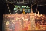 竹山は逆バンジーをしながら登場=映画『ミュータント・タートルズ』アフレコイベント (C)ORICON NewS inc.