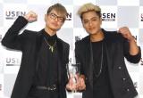『2015年間USEN HIT J-POPランキング』の1位に輝いた三代目 J Soul Brothers(左から)今市隆二、ELLY (C)ORICON NewS inc.