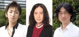 (左から)第153回芥川賞を受賞した羽田圭介氏、又吉直樹、直木賞を受賞した東山彰良氏