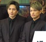 『第57回 輝く!日本レコード大賞』記者会見に出席した三代目 J Soul Brothers(左から)登坂広臣、今市隆二 (C)ORICON NewS inc.