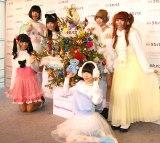 KDDI『うたパス Listen with直前クリスマストークショー』に出席したでんぱ組.inc (C)ORICON NewS inc.