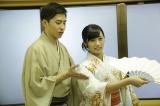ドラマ内では日舞を披露したAKB48藤田奈那 (C)AKBホラーナイト製作委員会