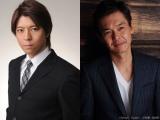 『連続ドラマW 沈まぬ太陽』(2016年春放送)に出演する上川隆也(左)と渡部篤郎(右)