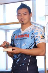 日本忍者協議会から称号を授与された五郎丸歩選手