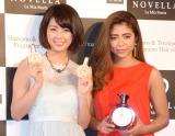 『NOVELLA』製品発表イベントに出席した(左から)柳ゆり菜、今井華 (C)ORICON NewS inc.