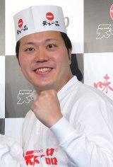 ラーメン店『天下一品』新CM発表会見に出席したエハラマサヒロ (C)ORICON NewS inc.