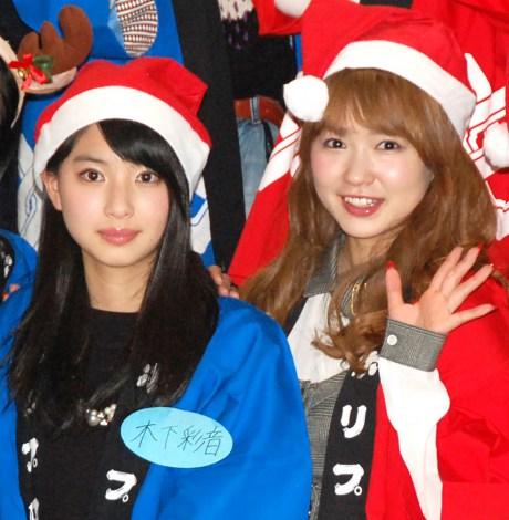 仕事の少なさを嘆いた谷澤恵里香(右)と(左から)『第40回ホリプロタレントスカウトキャラバン』グランプリの木下彩音 (C)ORICON NewS inc.