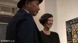 ニューヨークで海外初めての個展を開催した木梨憲武(左)と妻の安田成美(画像=『木梨の絵は世界へ!53歳新人画家のNY奮闘記』番組カット)