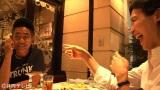 仲良し…笑顔で食事する木梨&安田夫妻