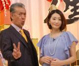 MBS・TBS系新春特番『歌う!人生ゲキジョー』で司会を務める(左から)高田純次、眞鍋かをり (C)ORICON NewS inc.