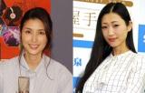 生放送に並んで出演した橋本マナミ(左)と壇蜜 (C)ORICON NewS inc.