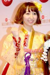 『第66回紅白歌合戦』リハーサル後、会見に応じたμ'sの飯田里穂 (C)ORICON NewS inc.
