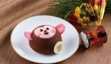 東京會舘が発売を開始した2016年の干支ケーキ「ハッピーモンキー」(税込540円)