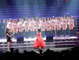 ハロプロのリーダー℃-uteの矢島舞美が手紙を読み上げた
