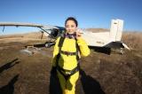 自身の誕生日の1月1日にスカイダイビングに挑戦し「威風堂々」を歌った鈴木慶江