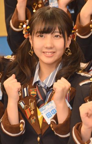 HKT48とNGT48による日本テレビ新番組『HKT48vsNGT48 さしきた合戦』(毎週月曜 深1:29※関東ローカル)に出演する田中美久 (C)ORICON NewS inc.