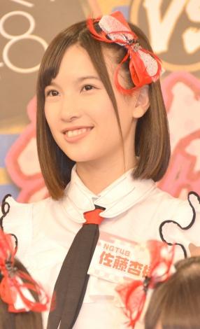 HKT48とNGT48による日本テレビ新番組『HKT48vsNGT48 さしきた合戦』(毎週月曜 深1:29※関東ローカル)に出演する佐藤杏樹 (C)ORICON NewS inc.