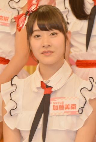 HKT48とNGT48による日本テレビ新番組『HKT48vsNGT48 さしきた合戦』(毎週月曜 深1:29※関東ローカル)に出演する加藤美南 (C)ORICON NewS inc.