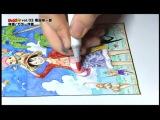 ワンピース原画制作の模様(C)尾田栄一郎/集英社