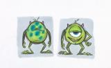 リッキー・ニエルヴァ【マイク:色彩の習作】『モンスターズ・インク』(2001年)マーカー、鉛筆/フォトコピー(C) Disney/Pixar
