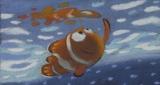 ラルフ・エッグルストン【遠足のシーンのパステル画】『ファインディング・ニモ』(2003年) パステル/紙(C) Disney/Pixar