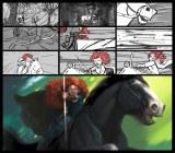 カラースクリプト:スティーブ・ピルチャー/ストーリーボード:エマ・コーツ、ブライアン・ラーセン【カラースクリプト/ストーリーボード:メリダのオープニングシーン】『メリダとおそろしの森』(2012年) デジタルペインティング(C) Disney/Pixar