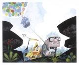 リッキー・ニエルヴァ【ケヴィン、ダグ、ラッセル、カール】『カールじいさんの空飛ぶ家』(2009年) グアッシュ/板(C) Disney/Pixar