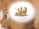 ロニー・デル・カルメン【ライリーと感情たち】『インサイド・ヘッド』(2015年)デジタルペインティング(原画〔鉛筆/紙〕をスキャニング)(C) Disney/Pixar