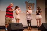 『1ami9LIVE! ♯003』に出演した(左から)クロちゃん、佐藤麗奈、菊地亜美、河西智美