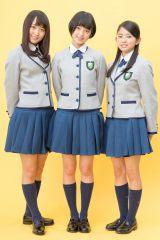 欅坂46(左から)菅井友香、平手友梨奈、鈴本美愉(写真:ウチダアキヤ)