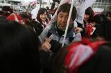 『繋げ!AKB48劇場の魂を!NGT48今村の東京→新潟 日本縦断354km行脚!』プロジェクトで無事ゴールした今村悦朗劇場支配人 (C)AKS